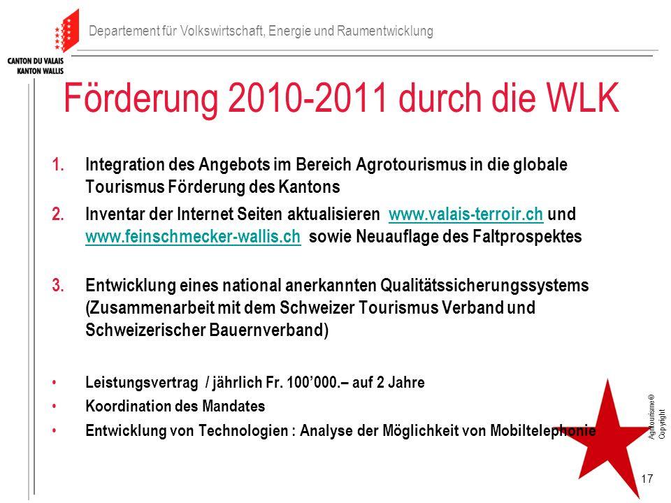 Förderung 2010-2011 durch die WLK