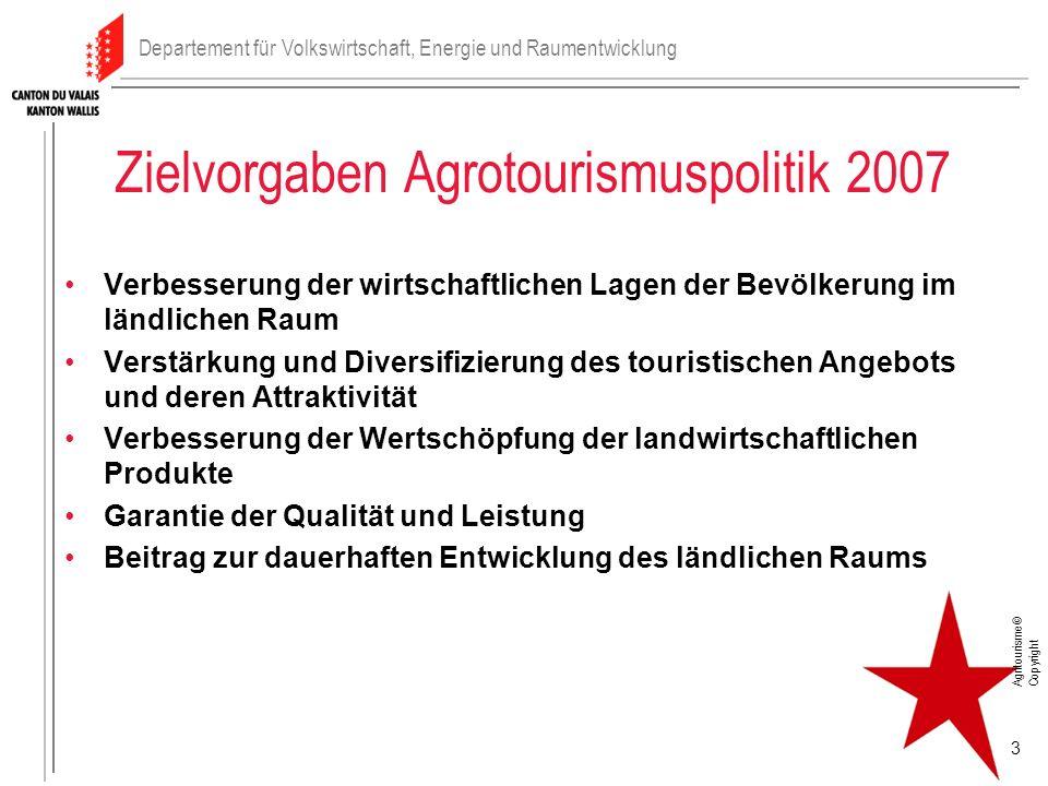 Zielvorgaben Agrotourismuspolitik 2007