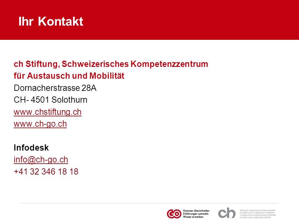 Ihr Kontakt ch Stiftung, Schweizerisches Kompetenzzentrum