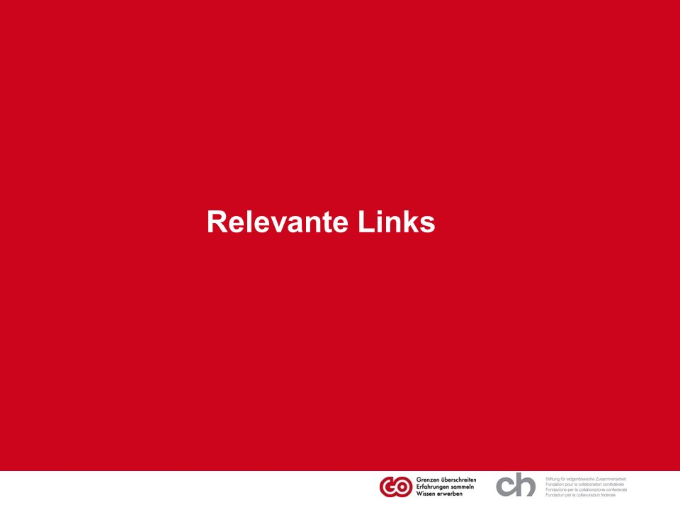 Relevante Links