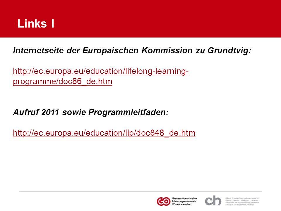 Links I Internetseite der Europaischen Kommission zu Grundtvig: