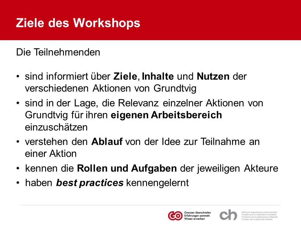 Ziele des Workshops Die Teilnehmenden