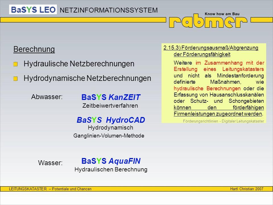 BaSYS KanZEIT BaSYS HydroCAD BaSYS AquaFIN
