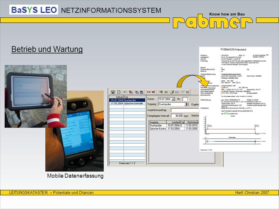 Betrieb und Wartung NETZINFORMATIONSSYSTEM Mobile Datenerfassung