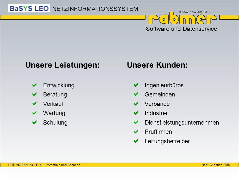 Unsere Leistungen: Unsere Kunden: NETZINFORMATIONSSYSTEM