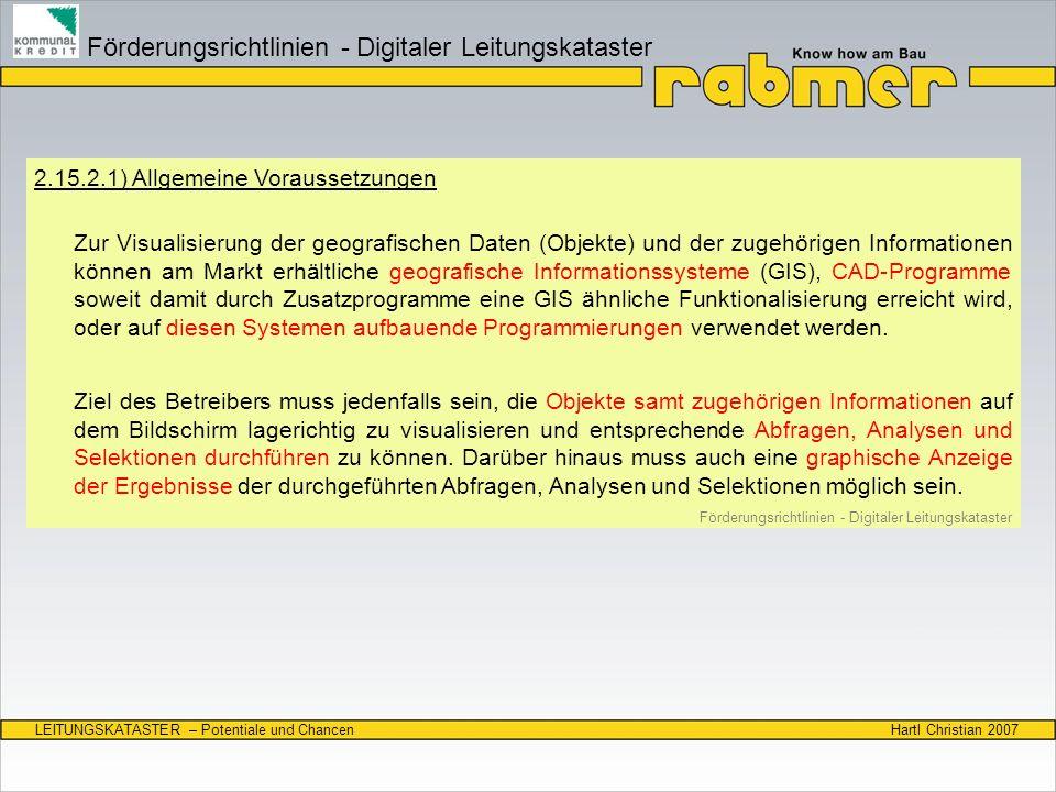 Förderungsrichtlinien - Digitaler Leitungskataster