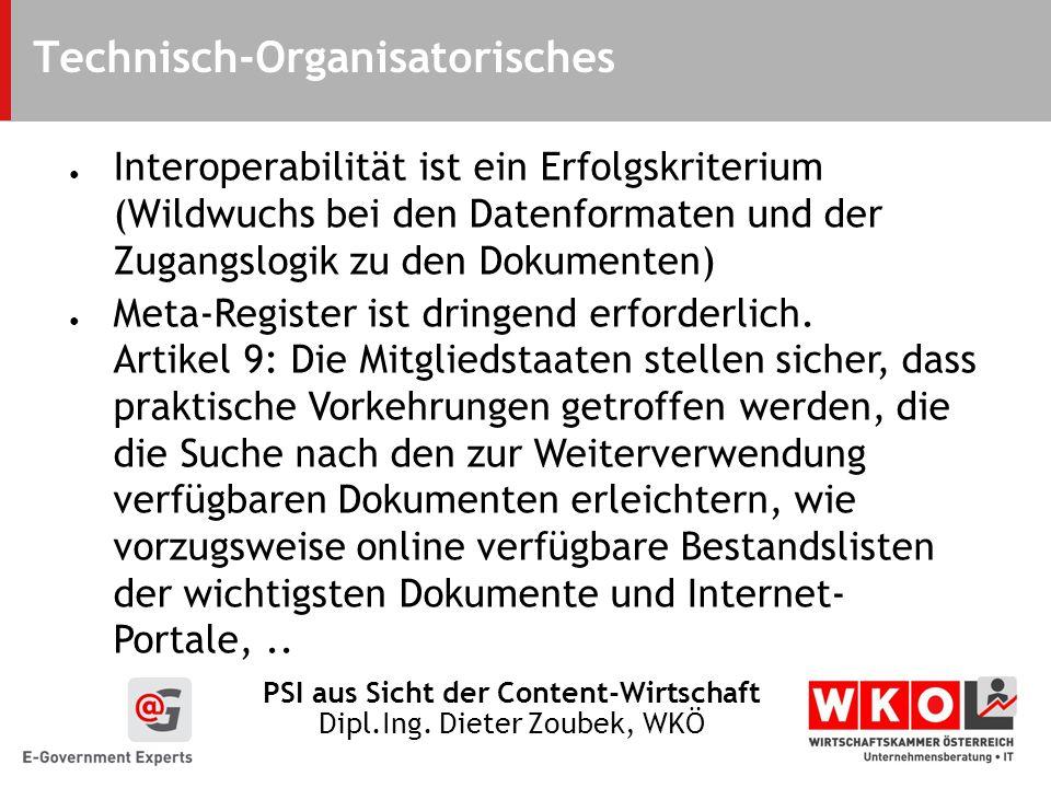 Technisch-Organisatorisches