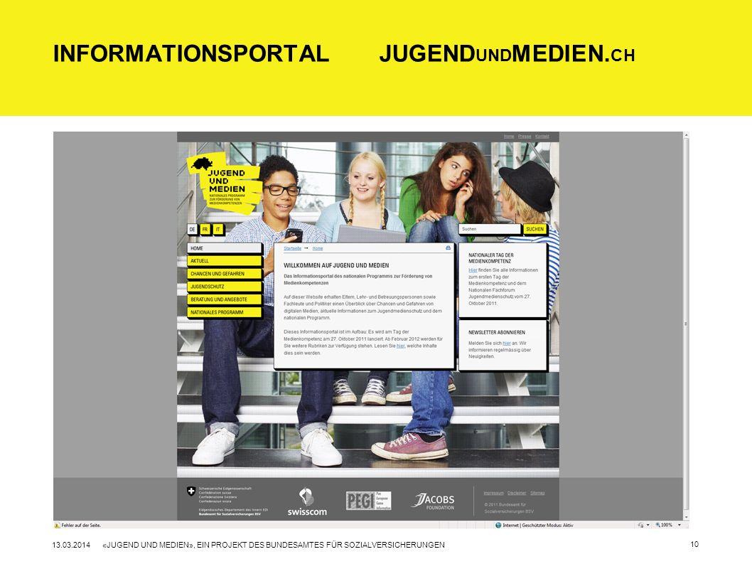 Informationsportal Jugendundmedien.ch