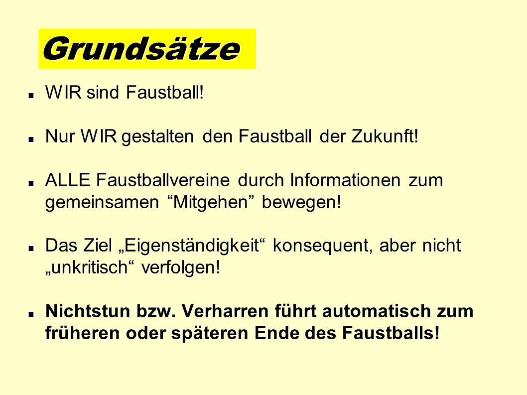 Grundsätze WIR sind Faustball!