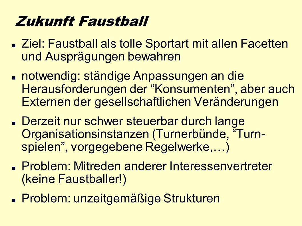 Zukunft Faustball Ziel: Faustball als tolle Sportart mit allen Facetten und Ausprägungen bewahren.