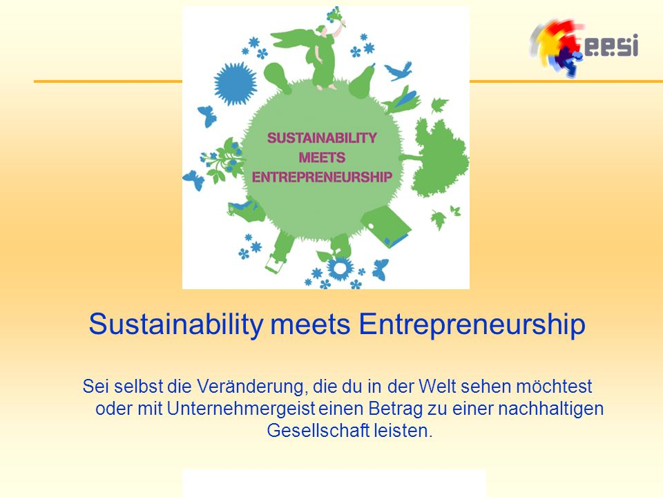 Sustainability meets Entrepreneurship