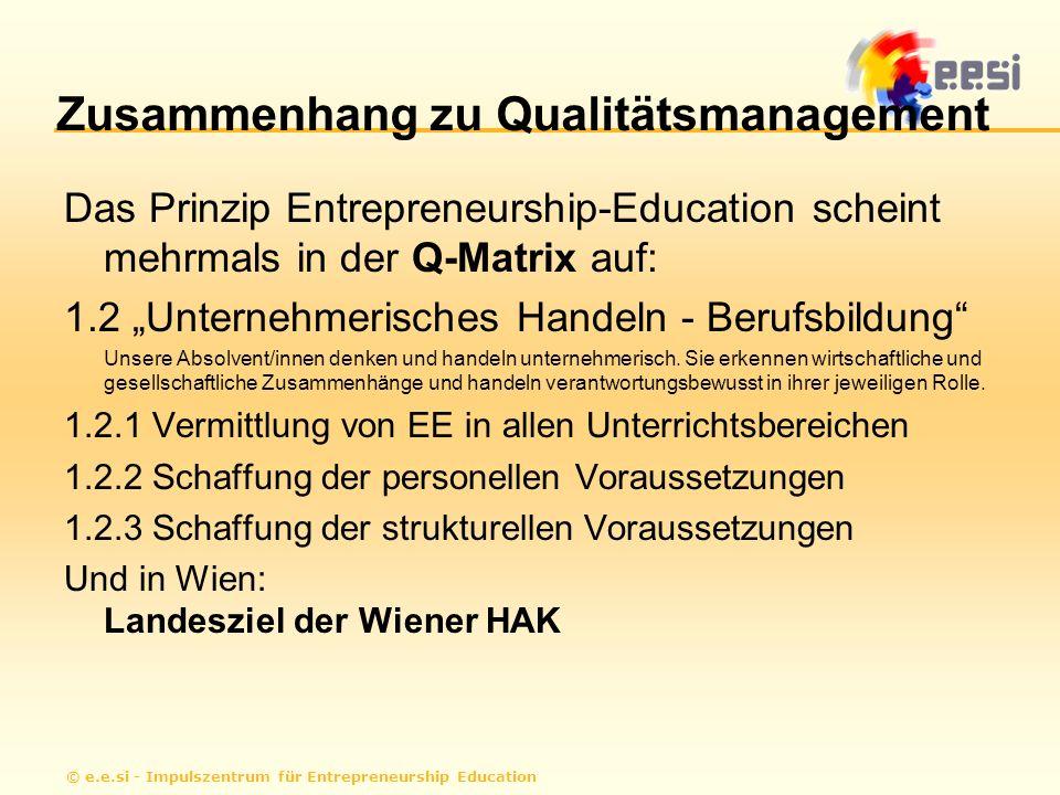 Zusammenhang zu Qualitätsmanagement