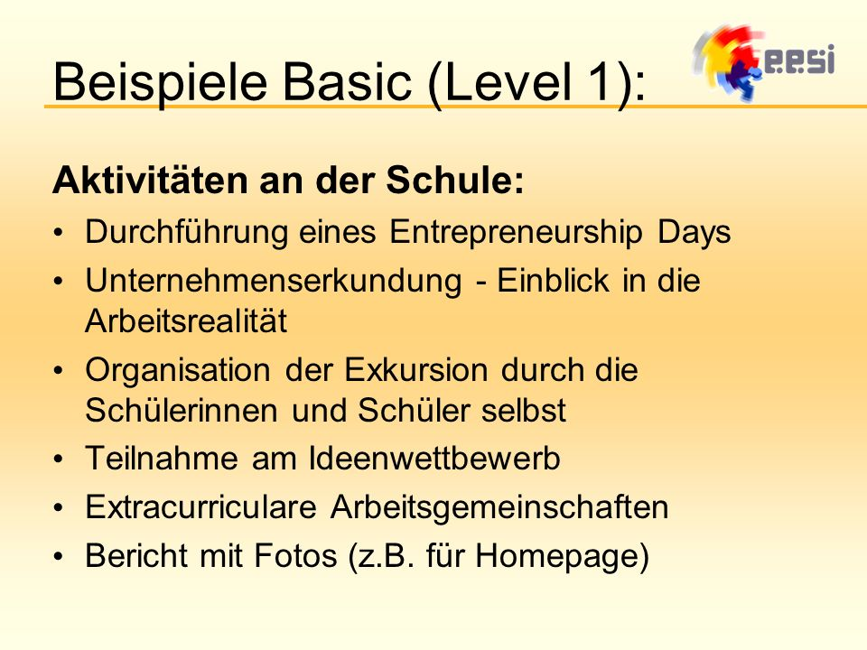 Beispiele Basic (Level 1):