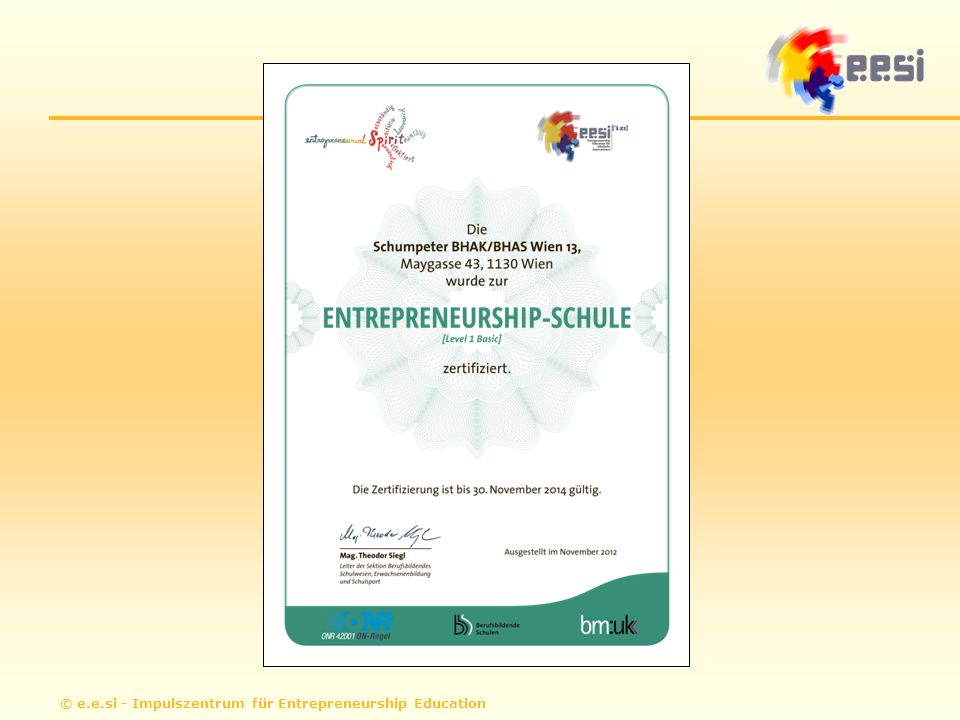 © e.e.si - Impulszentrum für Entrepreneurship Education