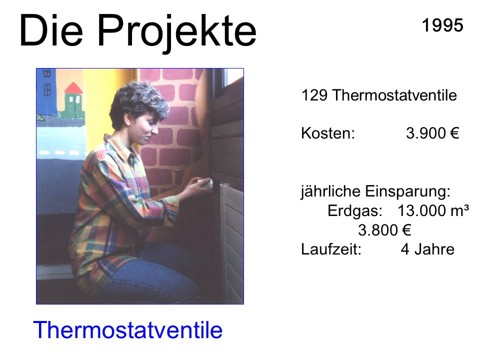 Die Projekte Thermostatventile 1995 129 Thermostatventile