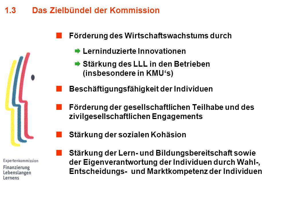 1.3 Das Zielbündel der Kommission
