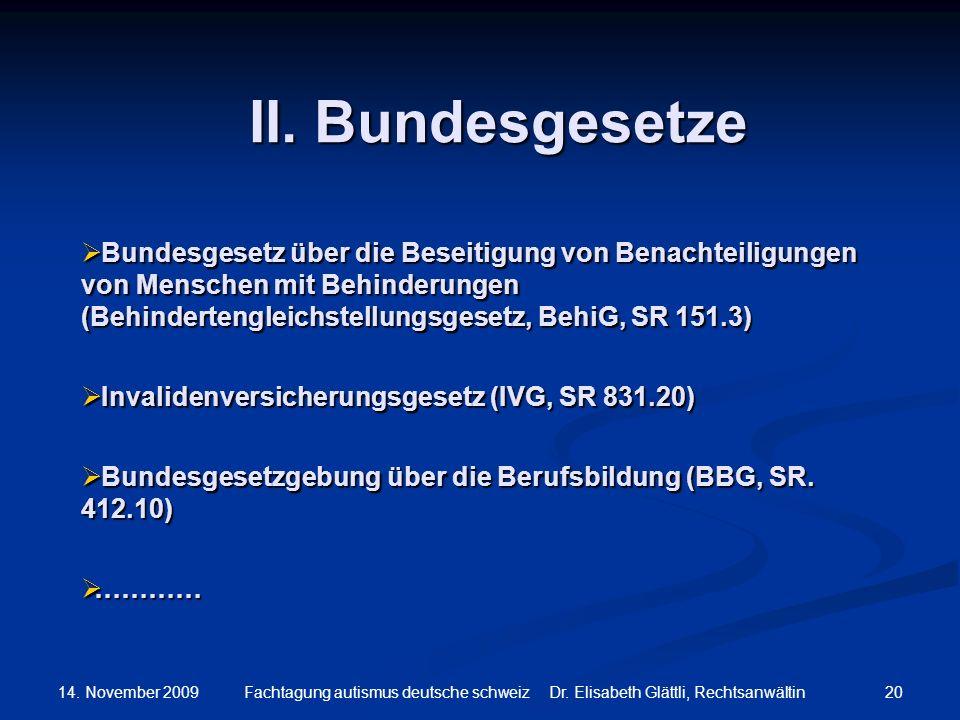 II. Bundesgesetze