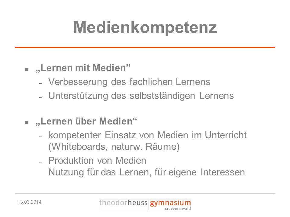"""Medienkompetenz """"Lernen mit Medien"""