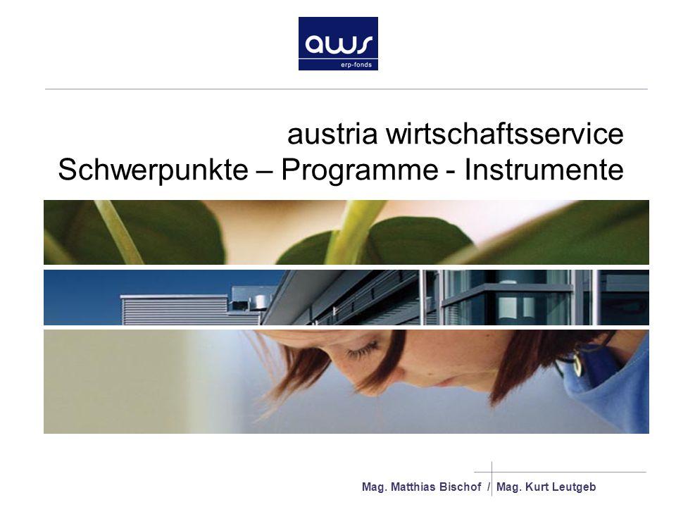 austria wirtschaftsservice Schwerpunkte – Programme - Instrumente