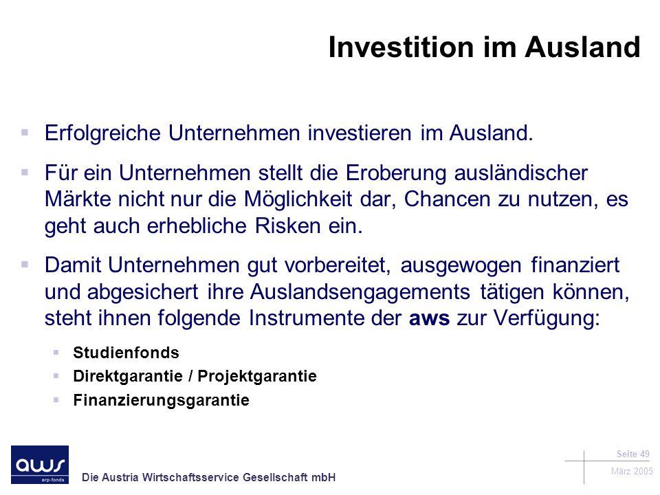 Investition im Ausland