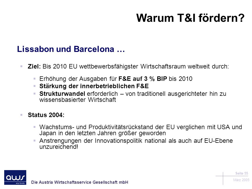 Warum T&I fördern Lissabon und Barcelona …