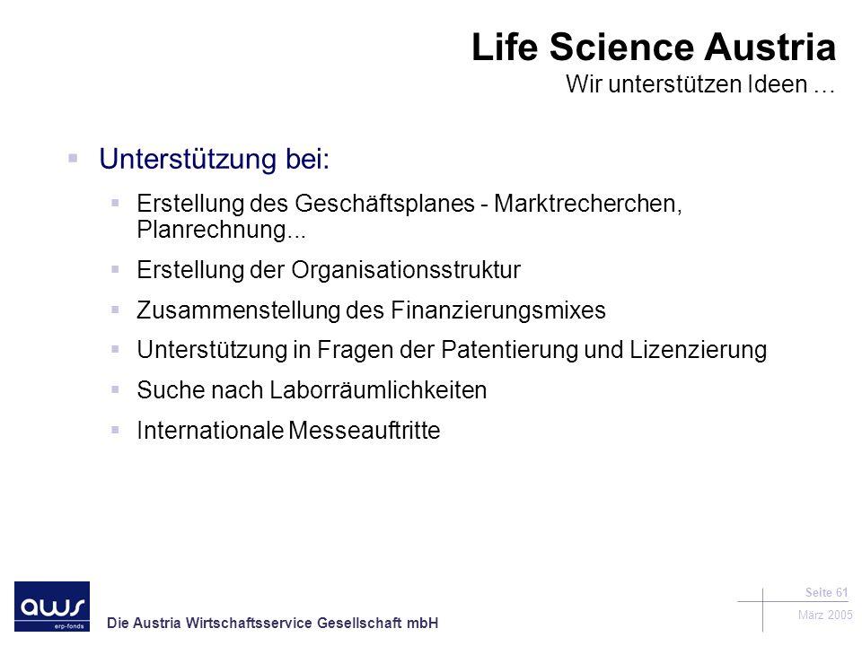 Life Science Austria Wir unterstützen Ideen …