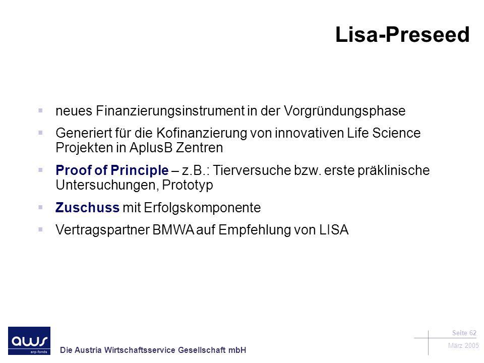 Lisa-Preseed neues Finanzierungsinstrument in der Vorgründungsphase