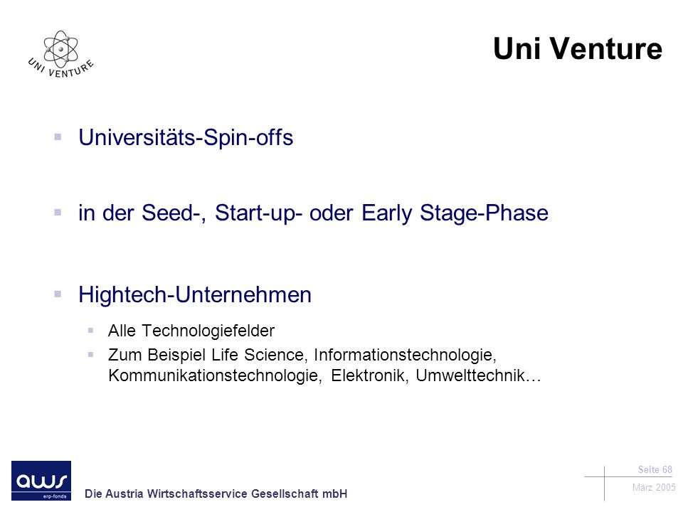 Uni Venture Universitäts-Spin-offs