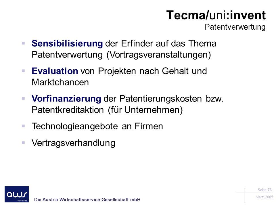Tecma/uni:invent Patentverwertung