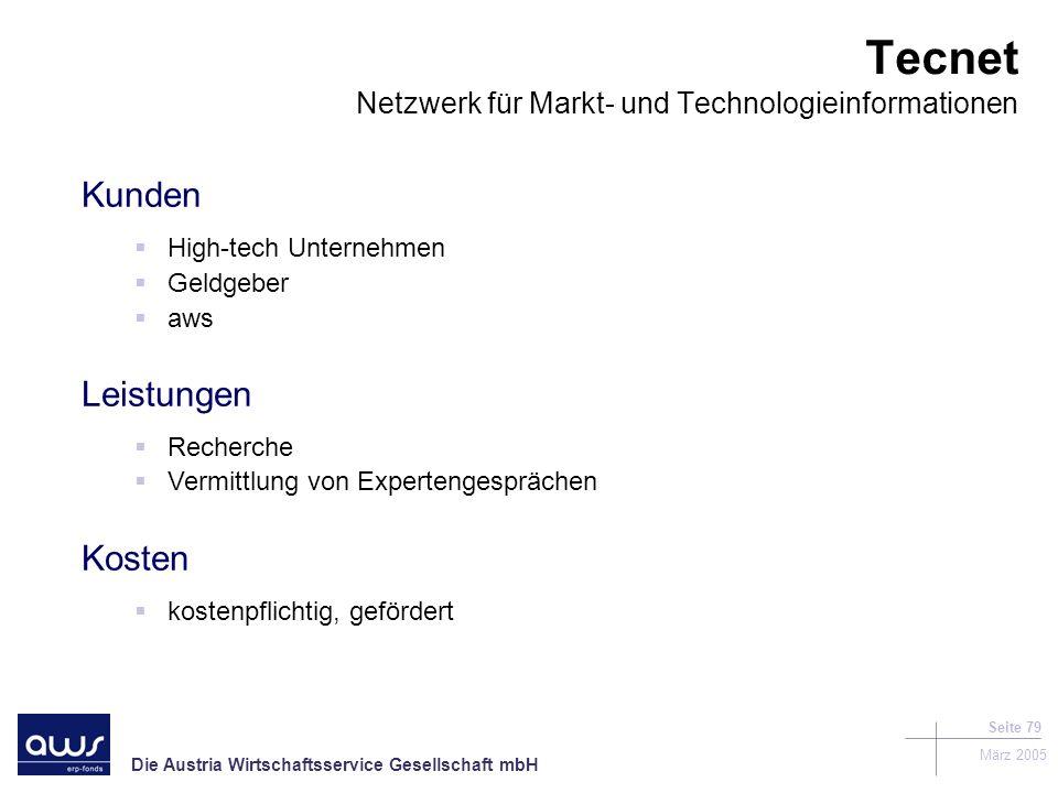 Tecnet Netzwerk für Markt- und Technologieinformationen