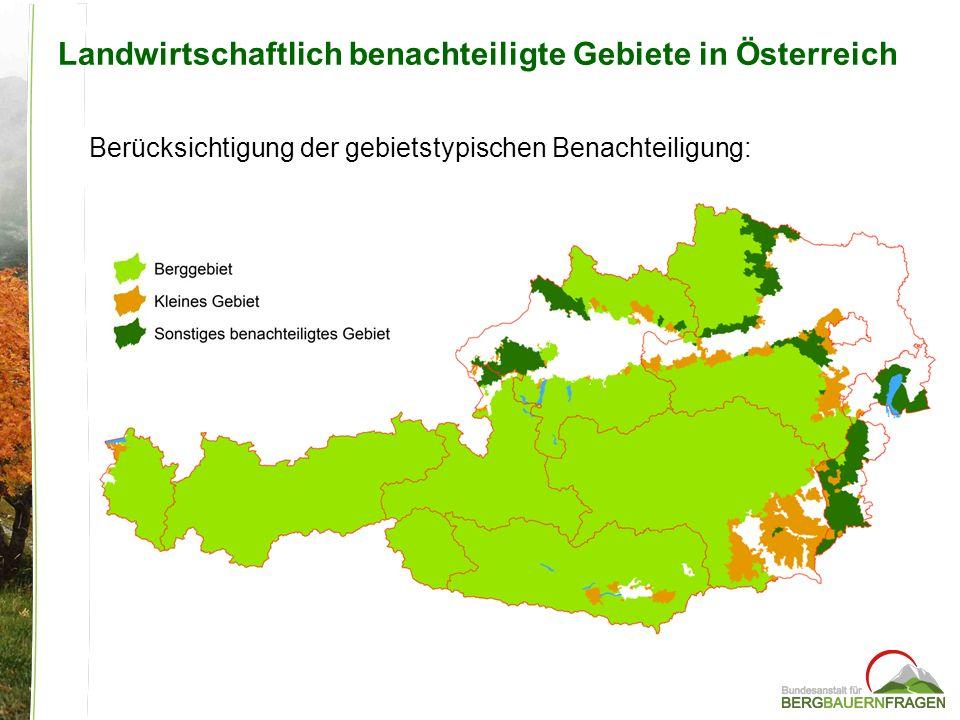 Landwirtschaftlich benachteiligte Gebiete in Österreich