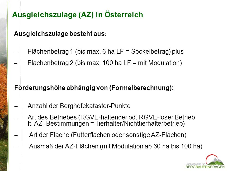 Ausgleichszulage (AZ) in Österreich