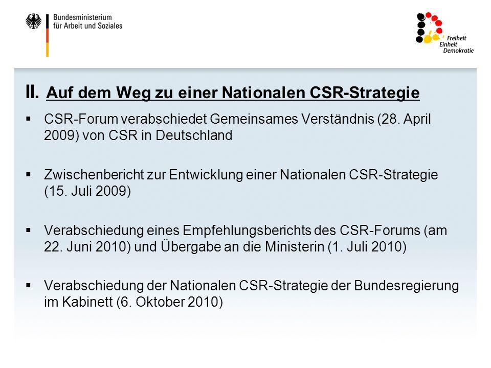 II. Auf dem Weg zu einer Nationalen CSR-Strategie