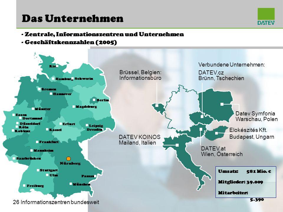 26 Informationszentren bundesweit