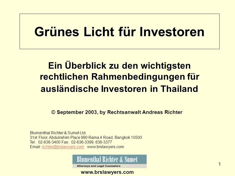 Grünes Licht für Investoren