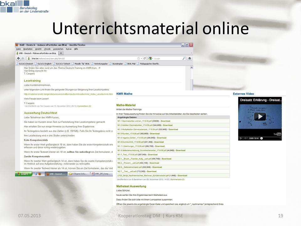 Unterrichtsmaterial online