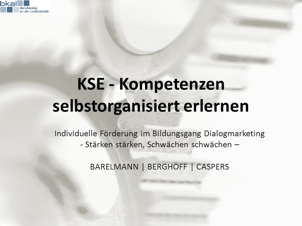 KSE - Kompetenzen selbstorganisiert erlernen