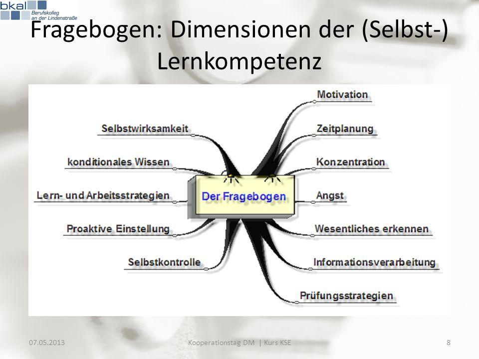Fragebogen: Dimensionen der (Selbst-) Lernkompetenz