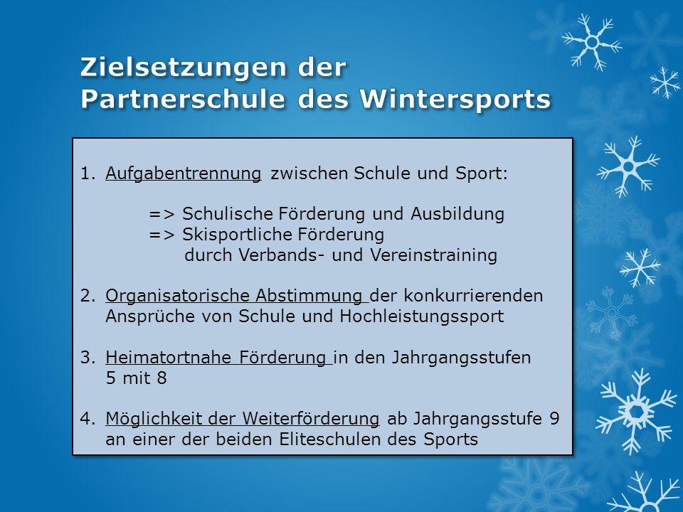 Zielsetzungen der Partnerschule des Wintersports