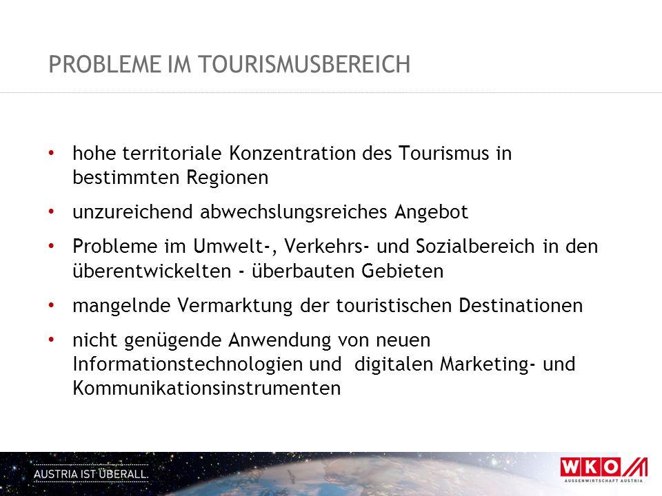 Probleme im tourismusbereich