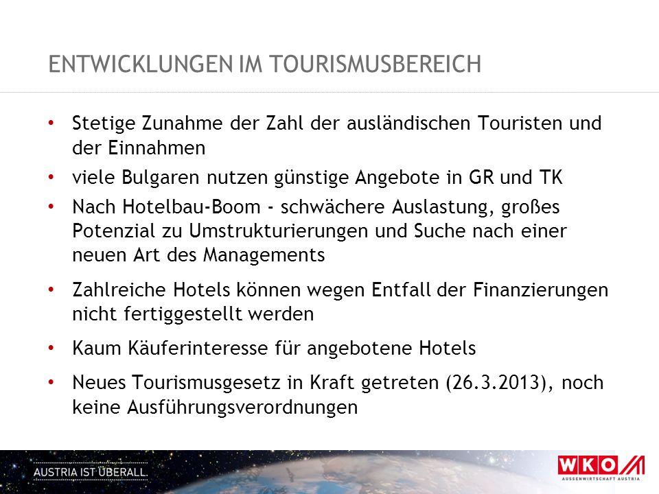 entwicklungen im tourismusbereich