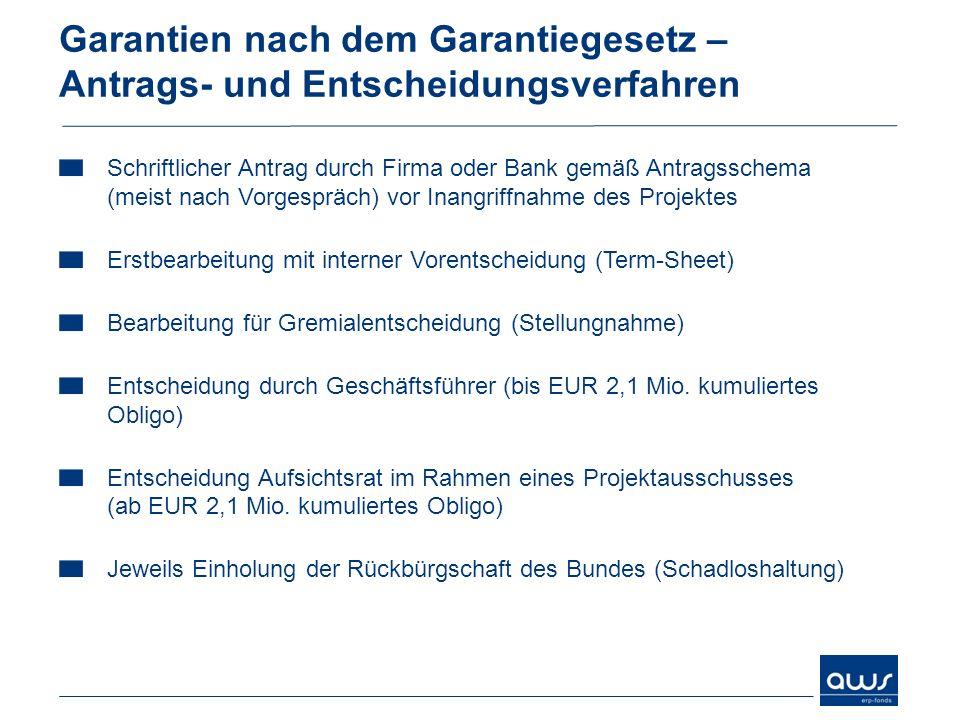 Garantien nach dem Garantiegesetz – Antrags- und Entscheidungsverfahren