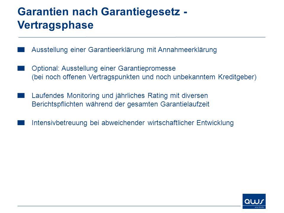 Garantien nach Garantiegesetz - Vertragsphase