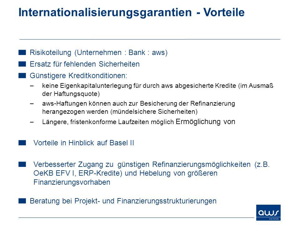 Internationalisierungsgarantien - Vorteile
