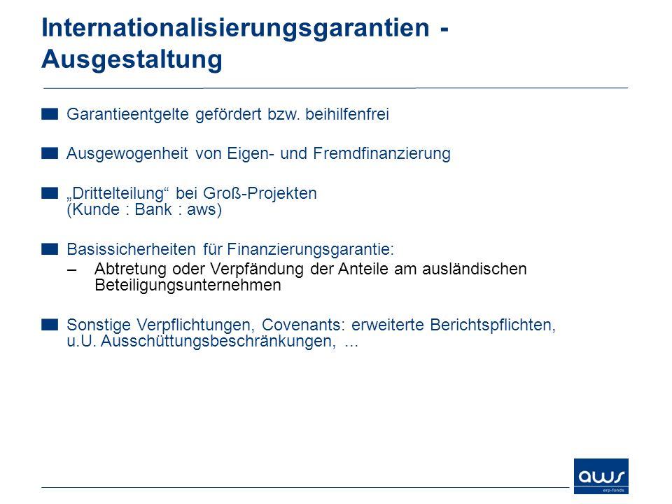 Internationalisierungsgarantien - Ausgestaltung