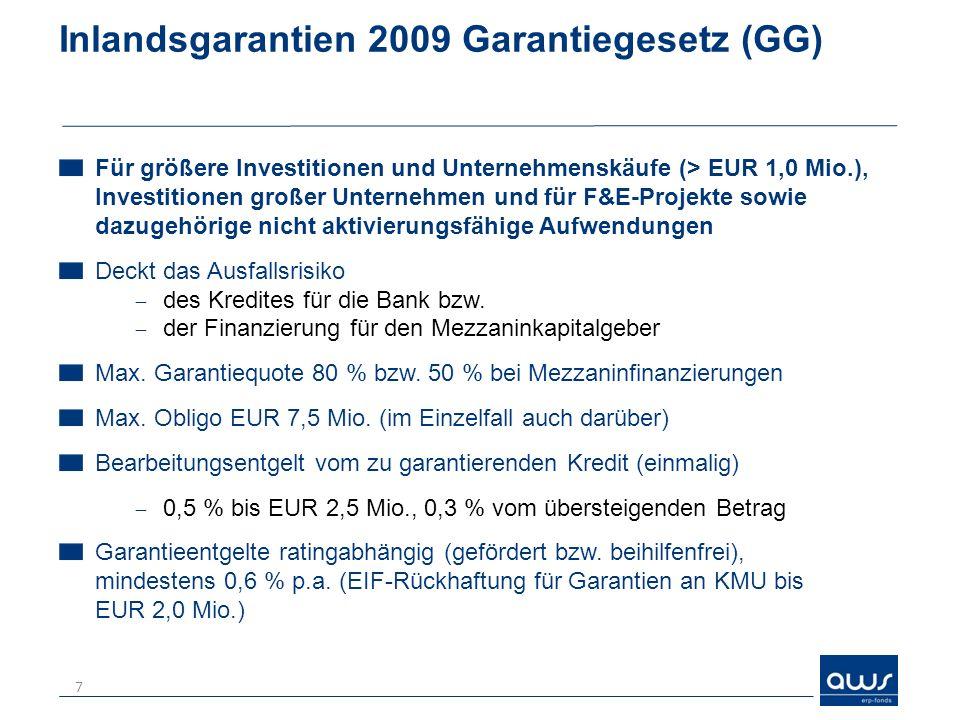 Inlandsgarantien 2009 Garantiegesetz (GG)