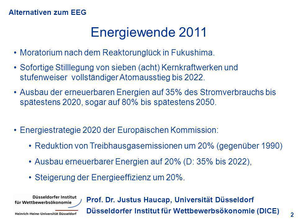 Energiewende 2011 Moratorium nach dem Reaktorunglück in Fukushima.