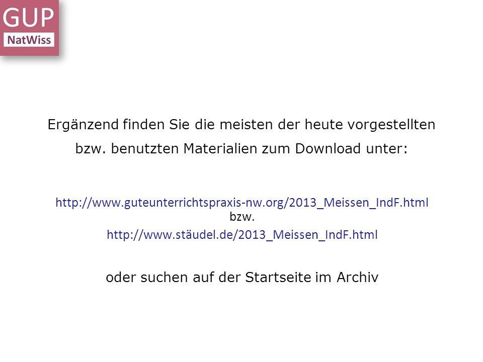 oder suchen auf der Startseite im Archiv