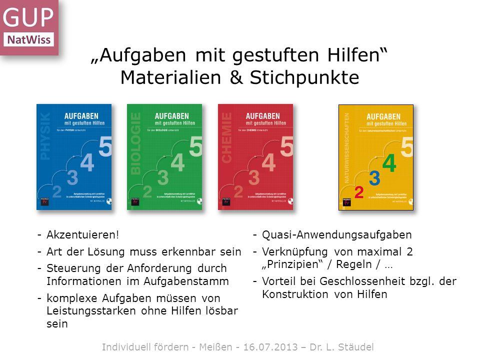 """""""Aufgaben mit gestuften Hilfen Materialien & Stichpunkte"""