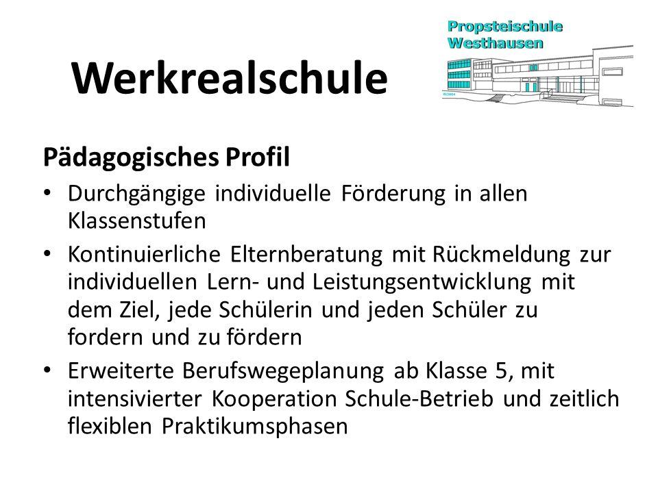 Werkrealschule Pädagogisches Profil